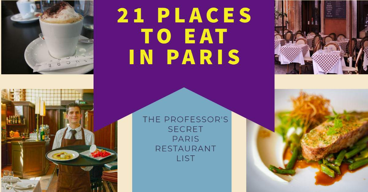 21 Places to Eat in Paris